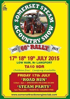Somerset Steam and Country Show Rally poster